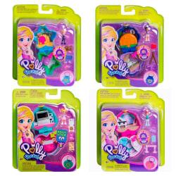 2-Pack Polly Pocket Figure Doll Mini Docka Med Tillbehör Lekset multifärg