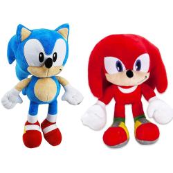 2-Pack Sonic The Hedgehog & Knuckles Gosedjur Plush Mjukisdjur 3 multifärg
