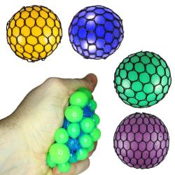 2-Pack Stressboll Squeeze Brain Ball Stress Relax Klämboll 7,5cm multifärg