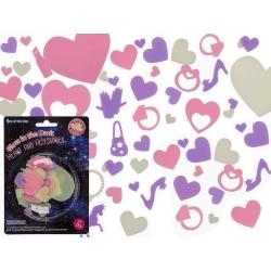 21-Pack Hjärtan & Tillbehör Självlysande Vägg och Tak Dekoration multifärg