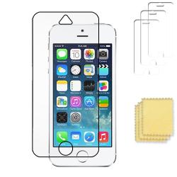 3-pack Apple iPhone 5C skärmskydd transparent med putsduk Transparent