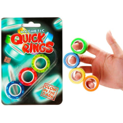 3-Pack Magnetic Quick Rings Lyser I Mörkret Anti-Stress Stressri multifärg