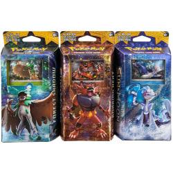 3-Pack Pokémon TCG: Sun & Moon Theme Deck  multifärg