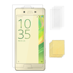 3-PACK Sony Xperia X Performance Skärmskydd + Putsduk Transparent