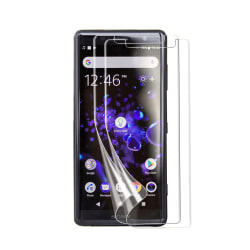 3-PACK Sony Xperia XZ2 Skärmskydd Transparent +Putsduk Transparent