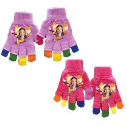 4-Pack 2i1 Fingervantar + Fingerlösa Vantar Soy Luna Rainbow Gli Pink one size