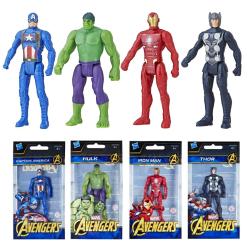 4-Pack Marvel Avengers Mini Figurer 10cm Hulk Iron Man Thor Capt multifärg