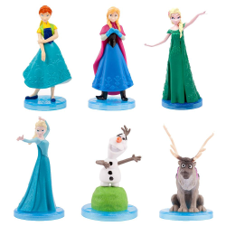 5-Pack Disney Frozen Frost Figurer 5-6cm  multifärg