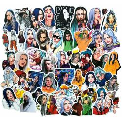 50st Billie Eilish Gadget Stickers Klistermärken Återanvändbara  multifärg