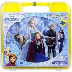6 i 1 Frozen Frost Kubpussel/Pusselklossar 20 Bitar Pussel Puzzl multifärg