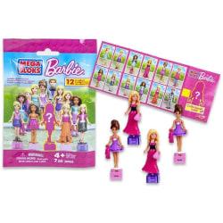 6-Pack Mega Bloks Barbie Figure Doll Docka Med Tillbehör Blind B multifärg