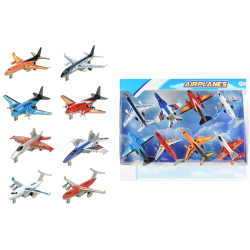 8-Pack Aircrafts Planes Flygplan 12cm multifärg