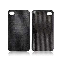 Äkta Carbon Fiber kolfiber skal ultralätt iPhone 4/4S TitaniumGrey