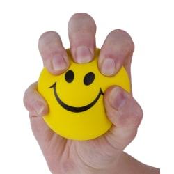 Anti-Stressboll Boll Emoji Smile Gul