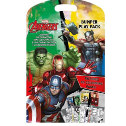 Avengers Bumper Play Pack Mini Målarbok Med Färgpennor   multifärg