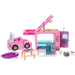 Barbie 3-in-1 DreamCamper Husbil Med Pool, Cabriolet, Båt och 60 multifärg