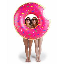 Bigmouth Uppblåsbar Flytande Lounge Badring Munk Donut ROSA 120c multifärg