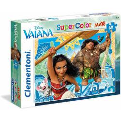 Clementoni Vaiana/Moana And Maui Supercolor Puzzle 60 Bitar Puss multifärg