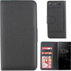 Colorfone Wallet Sony Xperia XZ1 Plånboksfodral BLACK Svart