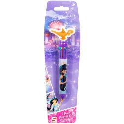 Disney Aladdin Jasmine Bläckpenna 10 Olika Färger 10i1 Rosa