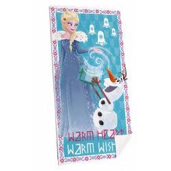 Disney Frost Frozen Elsa & Olaf Handduk Badlakan 140*70cm multifärg
