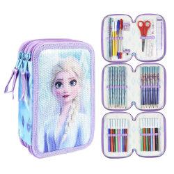 Disney Frozen Elsa Frost Paljetter 43-delar Pennskrin Trippel Sk multifärg