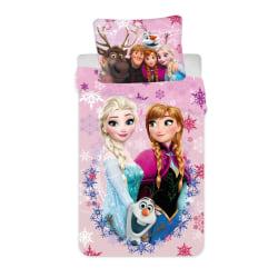 Disney Frozen Frost Påslakanset Bäddset Vändbart 140x200+70x90cm Ljusrosa
