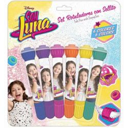 Disney Soy Luna Färgpennor Med Stämplar 6st Skolset Pennset  multifärg