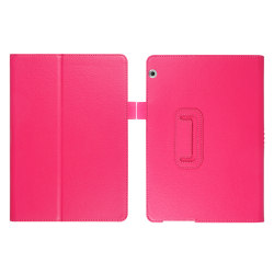 Flip & Stand Smart Cover Fodral Huawei Mediapad T5 10 Mörkrosa