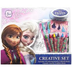Frozen 2 Frost Stor A3 Målarbok Med Klistermärken & Kritor 23st  multifärg