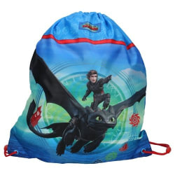 How To Train Your Dragon 3 Gympapåse Barnväska 44x37cm Blue one size