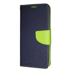 Huawei Mate 20 Lite Plånboksfodral Fancy Case + Handlovsrem Navy Mörkblå