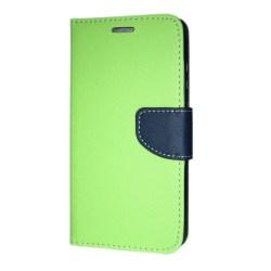 Huawei P20 Plånboksfodral Fancy Case + Handlovsrem Lime-Navy Grön