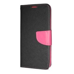 Samsung Galaxy A30 (A305) Plånboksfodral Fancy Case Svart-Rosa multifärg