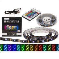 LED Light Strip RGB Med Fjärrkontroll 2m List/Slinga Färgskiftan multifärg