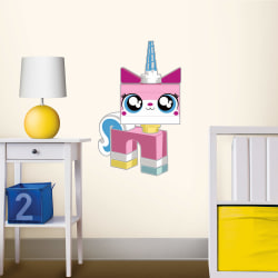 Lego Movie Unikitty Staticker Wall Decal Sticker Väggdekor ca53x multifärg