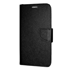 Samsung Galaxy A7 2018 Plånboksfodral Fancy Case + Handrem Svart Black Samsung Galaxy A7 2018 A750