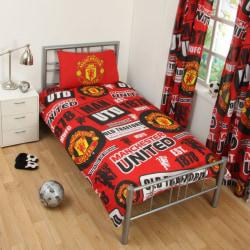 Manchester United Påslakanset Bäddset 135x200 + 50x75cm Red