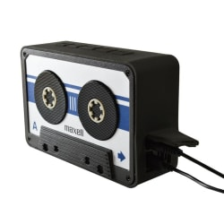 Maxell BT90  Retro Cassette Bluetooth v4.1 Speaker Silver/Svart Silver
