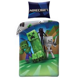 Minecraft Creeps Påslakanset Bäddset Sängkläder 140x200+70x90cm multifärg
