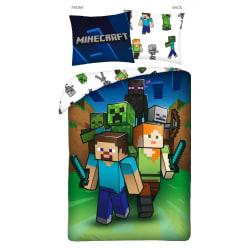 Minecraft Groupie Påslakanset Bäddset Sängkläder 140x200cm multifärg