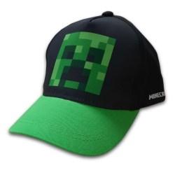 Minecraft Keps, Svart/Grön Med Motiv Av Creeper På Framsidan, 56 Svart