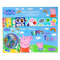 Peppa Pig Greta Gris Mega Sticker Set Klistermärken multifärg