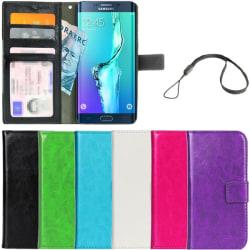 Plånboksfodral Galaxy S6 Edge PLUS  ID Ficka + Handlovsrem Ljusblå