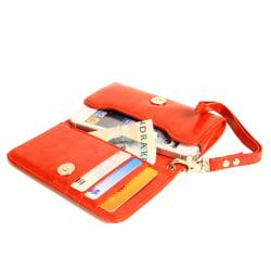 Plånboksfodral Handväska iPhone SE/5S/5/5C/4S + Handledsrem Röd