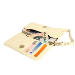 Plånboksfodral Handväska iPhone SE/5S/5/5C/4S + Handledsrem Vit