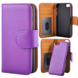 Plånboksfodral Med Löstagbart Magnet Skal iPhone 5/5s/SE Lila Purple