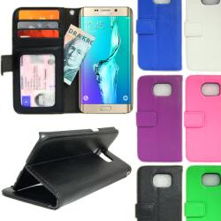 Plånboksfodral Samsung Galaxy S6 Edge+ (PLUS) 4st Kort Rosa