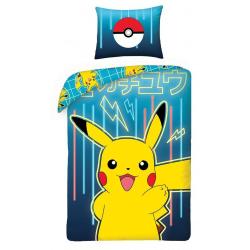 Pokemon Neon Påslakanset Bäddset  140x200+70x90cm multifärg