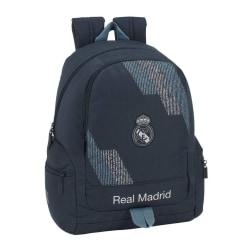 Real Madrid  Ryggsäck Skolväska Väska 43x32x17cm Mörkgrå one size